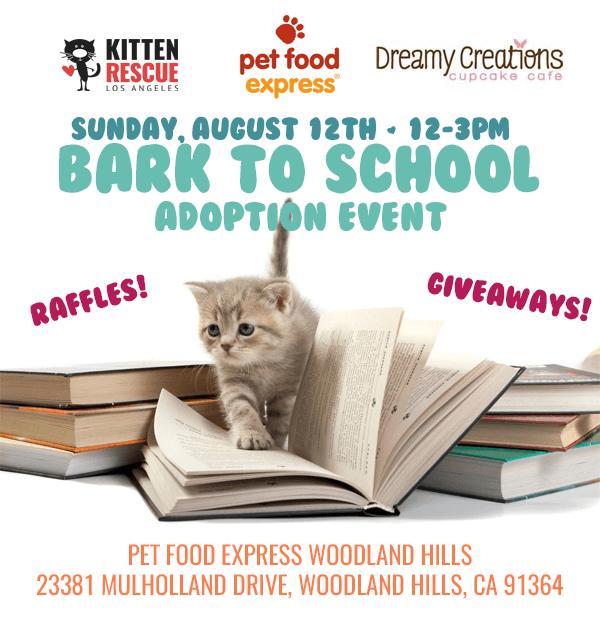 Pet Food Express Adoption Event Flyer
